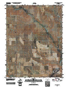 McAllaster Kansas Historical topographic map, 1:24000 scale, 7.5 X 7.5 Minute, Year 2009
