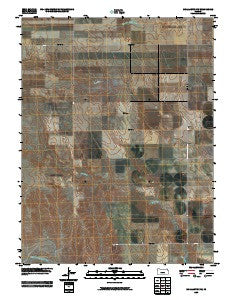 McAllaster NW Kansas Historical topographic map, 1:24000 scale, 7.5 X 7.5 Minute, Year 2009
