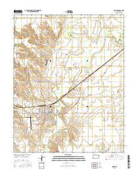 Meade Kansas Current topographic map, 1:24000 scale, 7.5 X 7.5 Minute, Year 2016