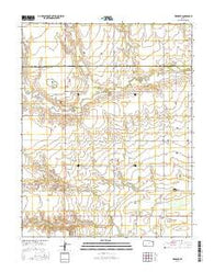 Meade NE Kansas Current topographic map, 1:24000 scale, 7.5 X 7.5 Minute, Year 2016