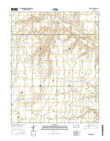 Meade NW Kansas Current topographic map, 1:24000 scale, 7.5 X 7.5 Minute, Year 2016