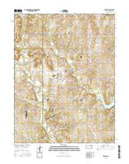 Meriden Kansas Current topographic map, 1:24000 scale, 7.5 X 7.5 Minute, Year 2015 from Kansas Map Store
