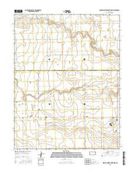Middle Ladder Creek West Kansas Current topographic map, 1:24000 scale, 7.5 X 7.5 Minute, Year 2016