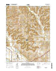 Midland Kansas Current topographic map, 1:24000 scale, 7.5 X 7.5 Minute, Year 2016