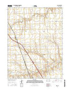 Mingo Kansas Current topographic map, 1:24000 scale, 7.5 X 7.5 Minute, Year 2015 from Kansas Map Store