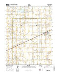 Minneola Kansas Current topographic map, 1:24000 scale, 7.5 X 7.5 Minute, Year 2016