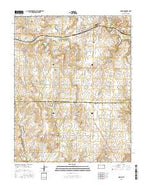 Moline Kansas Current topographic map, 1:24000 scale, 7.5 X 7.5 Minute, Year 2015 from Kansas Map Store