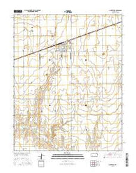 Montezuma Kansas Current topographic map, 1:24000 scale, 7.5 X 7.5 Minute, Year 2016