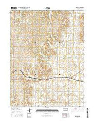 Montrose Kansas Current topographic map, 1:24000 scale, 7.5 X 7.5 Minute, Year 2016