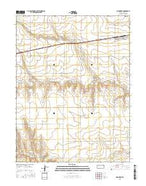 Monument Kansas Current topographic map, 1:24000 scale, 7.5 X 7.5 Minute, Year 2015 from Kansas Map Store