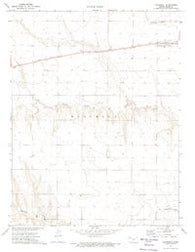 Monument Kansas Historical topographic map, 1:24000 scale, 7.5 X 7.5 Minute, Year 1972