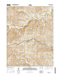 Morrill Kansas Current topographic map, 1:24000 scale, 7.5 X 7.5 Minute, Year 2016