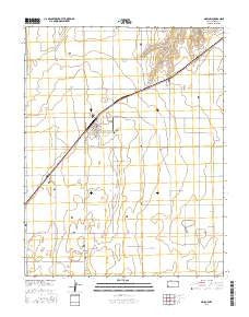 Moscow Kansas Current topographic map, 1:24000 scale, 7.5 X 7.5 Minute, Year 2016