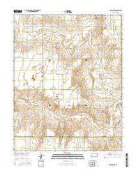 Moscow NW Kansas Current topographic map, 1:24000 scale, 7.5 X 7.5 Minute, Year 2016
