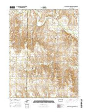 Mouth of Wild Horse Creek Kansas Current topographic map, 1:24000 scale, 7.5 X 7.5 Minute, Year 2016 from Kansas Maps Store