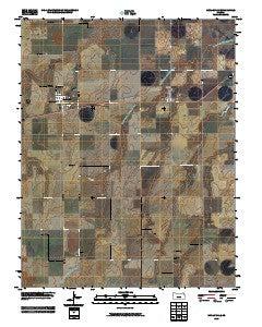 Mullinville Kansas Historical topographic map, 1:24000 scale, 7.5 X 7.5 Minute, Year 2009