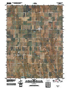 Narka Kansas Historical topographic map, 1:24000 scale, 7.5 X 7.5 Minute, Year 2009