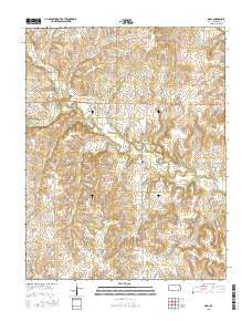 Neal Kansas Current topographic map, 1:24000 scale, 7.5 X 7.5 Minute, Year 2015