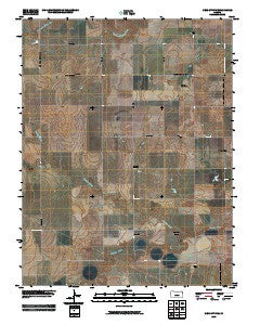 Ness City SW Kansas Historical topographic map, 1:24000 scale, 7.5 X 7.5 Minute, Year 2009