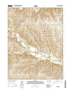 Netawaka Kansas Current topographic map, 1:24000 scale, 7.5 X 7.5 Minute, Year 2015 from Kansas Map Store