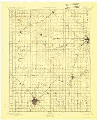 Newton Kansas Historical topographic map, 1:125000 scale, 30 X 30 Minute, Year 1894