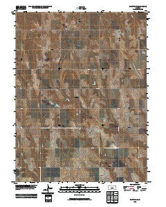 Norton NE Kansas Historical topographic map, 1:24000 scale, 7.5 X 7.5 Minute, Year 2009