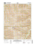 Nortonville Kansas Current topographic map, 1:24000 scale, 7.5 X 7.5 Minute, Year 2015 from Kansas Map Store