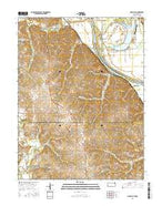 Oak Mills Kansas Current topographic map, 1:24000 scale, 7.5 X 7.5 Minute, Year 2015 from Kansas Map Store
