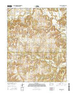Oak Valley Kansas Current topographic map, 1:24000 scale, 7.5 X 7.5 Minute, Year 2015 from Kansas Map Store