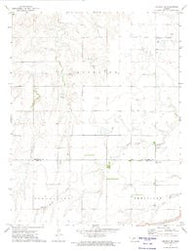 Offerle NW Kansas Historical topographic map, 1:24000 scale, 7.5 X 7.5 Minute, Year 1972