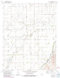 Offerle SE Kansas Historical topographic map, 1:24000 scale, 7.5 X 7.5 Minute, Year 1972