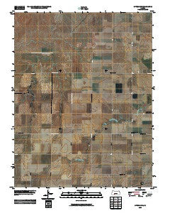 Offerle NW Kansas Historical topographic map, 1:24000 scale, 7.5 X 7.5 Minute, Year 2009