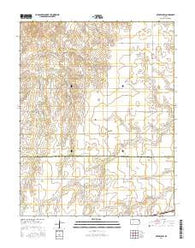 Offerle NW Kansas Current topographic map, 1:24000 scale, 7.5 X 7.5 Minute, Year 2016