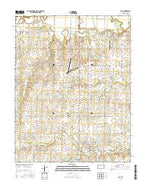 Olpe Kansas Current topographic map, 1:24000 scale, 7.5 X 7.5 Minute, Year 2015 from Kansas Map Store