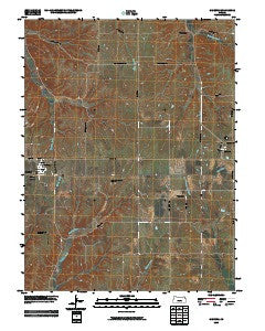 Olsburg Kansas Historical topographic map, 1:24000 scale, 7.5 X 7.5 Minute, Year 2009