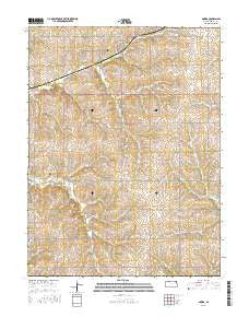 Oneida Kansas Current topographic map, 1:24000 scale, 7.5 X 7.5 Minute, Year 2015