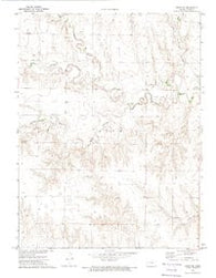 Orion NE Kansas Historical topographic map, 1:24000 scale, 7.5 X 7.5 Minute, Year 1972