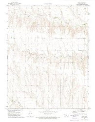 Orion Kansas Historical topographic map, 1:24000 scale, 7.5 X 7.5 Minute, Year 1972