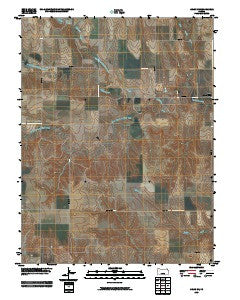 Orion NE Kansas Historical topographic map, 1:24000 scale, 7.5 X 7.5 Minute, Year 2009
