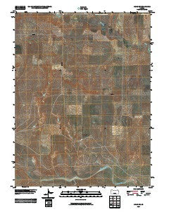 Orion SW Kansas Historical topographic map, 1:24000 scale, 7.5 X 7.5 Minute, Year 2009