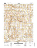 Orion SW Kansas Current topographic map, 1:24000 scale, 7.5 X 7.5 Minute, Year 2015 from Kansas Map Store