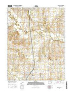 Osage City Kansas Current topographic map, 1:24000 scale, 7.5 X 7.5 Minute, Year 2015 from Kansas Map Store
