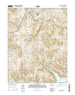 Osage City SE Kansas Current topographic map, 1:24000 scale, 7.5 X 7.5 Minute, Year 2015 from Kansas Map Store