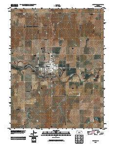 Osborne Kansas Historical topographic map, 1:24000 scale, 7.5 X 7.5 Minute, Year 2009