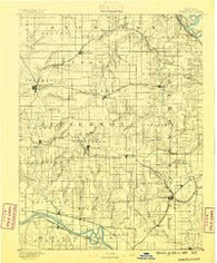 Oskaloosa Kansas Historical topographic map, 1:125000 scale, 30 X 30 Minute, Year 1888