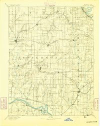 Oskaloosa Kansas Historical topographic map, 1:125000 scale, 30 X 30 Minute, Year 1894