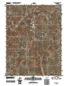 Oskaloosa Kansas Historical topographic map, 1:24000 scale, 7.5 X 7.5 Minute, Year 2009