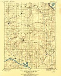 Oskaloosa Kansas Historical topographic map, 1:125000 scale, 30 X 30 Minute, Year 1886