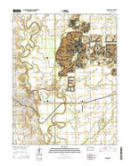 Oswego Kansas Current topographic map, 1:24000 scale, 7.5 X 7.5 Minute, Year 2015 from Kansas Map Store
