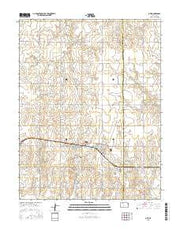 Otis Kansas Current topographic map, 1:24000 scale, 7.5 X 7.5 Minute, Year 2015 from Kansas Maps Store